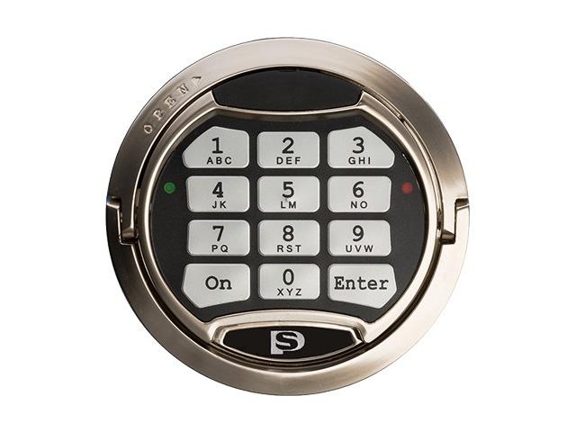 Kluis model 'VDH S2 60P E' is voorzien van een elektronisch cijferslot. Voeding d.m.v. 9V blokbatterij.
